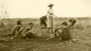 blog nicholls miss donkin supervising planting of garden for sanatorium